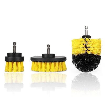 Power Scrubber Drill Brush Kit Urban Pronto Yellow 3pcs