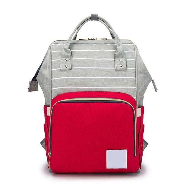Mummy Bag Urban Pronto Red Grey Mixed
