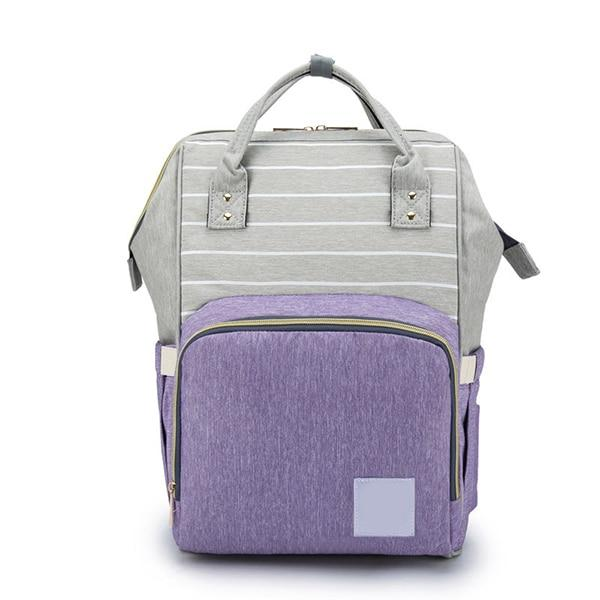 Mummy Bag Urban Pronto Purple Grey Mixed