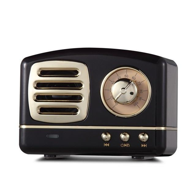 Retro Vintage Radio Bluetooth Speaker Urban Pronto Black