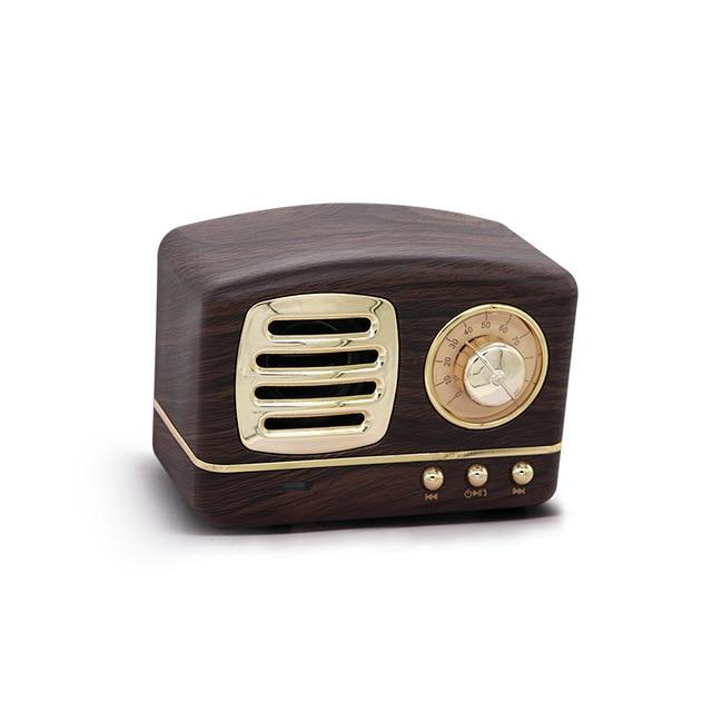 Retro Vintage Radio Bluetooth Speaker Urban Pronto Brown