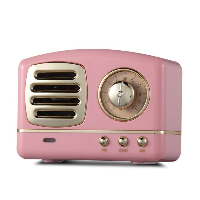 Retro Vintage Radio Bluetooth Speaker Urban Pronto Pink