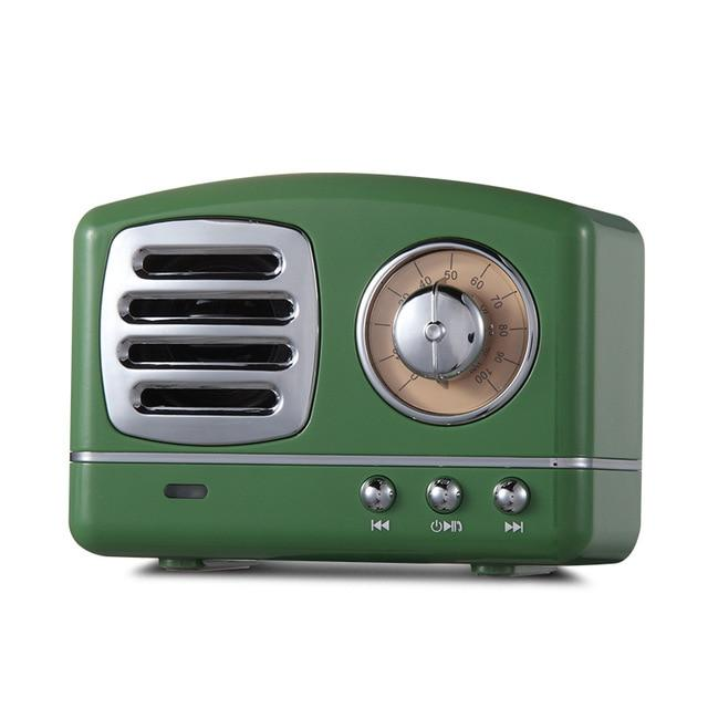 Retro Vintage Radio Bluetooth Speaker Urban Pronto Grass Green