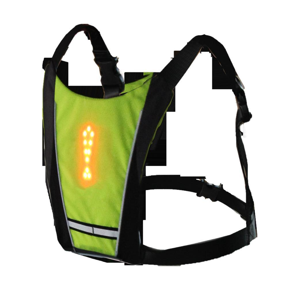LED Wireless Cycling Vest Urban Pronto yellow