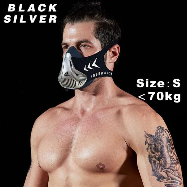 Altitude SportsTraining Fitness Mask Urban Pronto Black Silver S