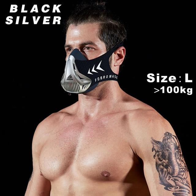 Altitude SportsTraining Fitness Mask Urban Pronto Black Silver L