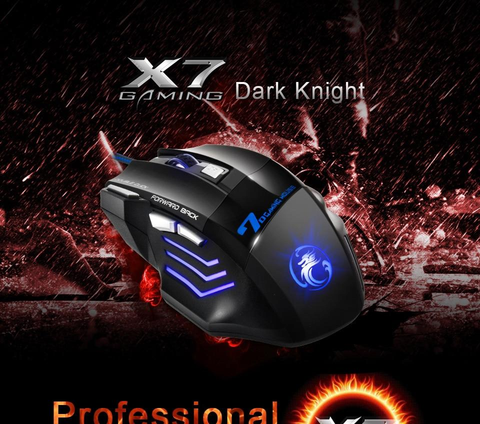 Professional Wired Gaming Mouse 7 Button 5500 DPI LED Urban Pronto