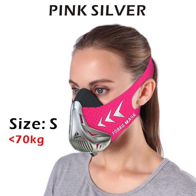 Altitude SportsTraining Fitness Mask Urban Pronto Pink Silver S
