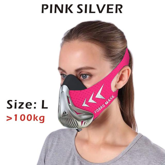 Altitude SportsTraining Fitness Mask Urban Pronto Pink Silver L