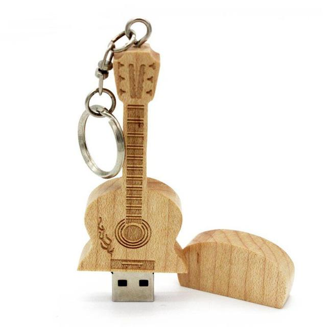 Wooden Guitar Usb Flash Drive 4GB 16GB 32GB 64GB