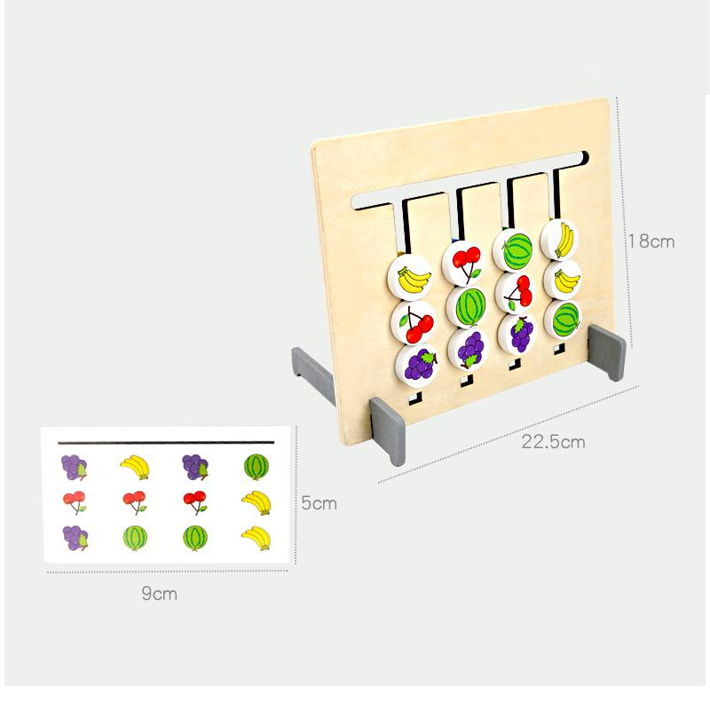 Montessori Fruit And Color Matching Game Urban Pronto