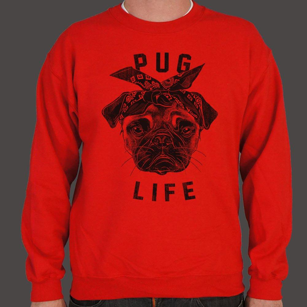 Pug Life Dog Sweater (Mens) Sweatshirt US Drop Ship Small Red