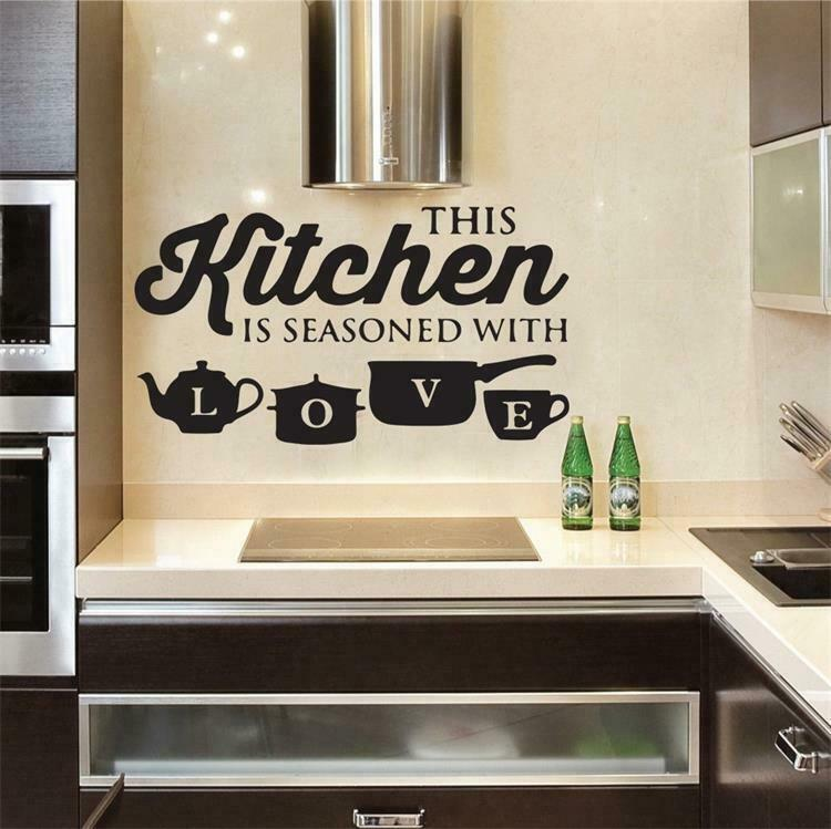 Wall Sticker PVC Kitchen Home Art Wall Decal