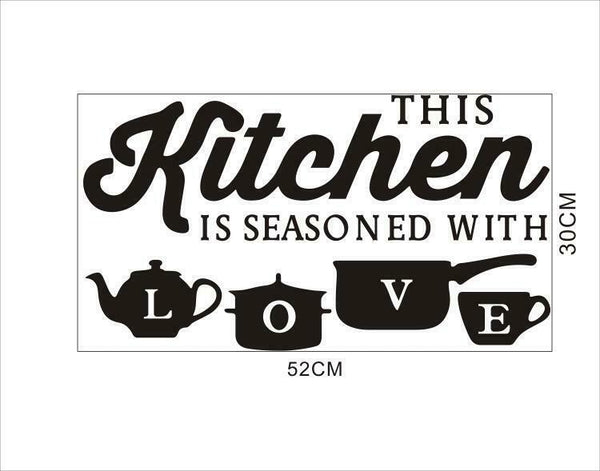 Wall Sticker PVC Kitchen Home Art Wall Decal gamebusinc