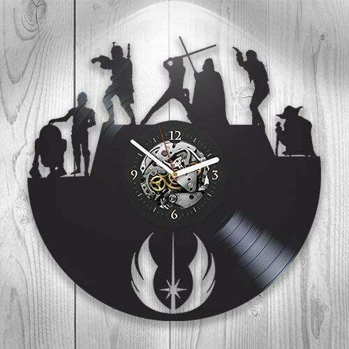Star Wars Vinyl Record Clock, Wall Decor, Darth Vader, Yoda, Luke Skywalker