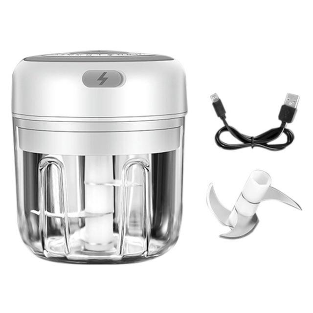 100/250ml Mini USB Wireless Electric Garlic Masher Press Mincer Vegetable Chili Meat Grinder Food Chopper Home Mocha's Store United States 4 white 250ml