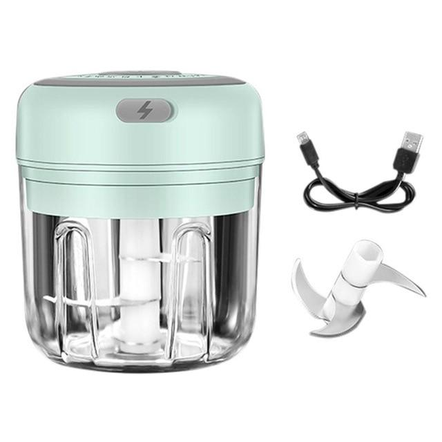 100/250ml Mini USB Wireless Electric Garlic Masher Press Mincer Vegetable Chili Meat Grinder Food Chopper Home Mocha's Store United States 5 green 250ml