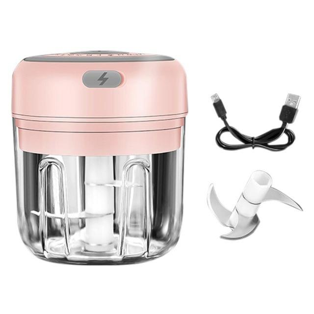 100/250ml Mini USB Wireless Electric Garlic Masher Press Mincer Vegetable Chili Meat Grinder Food Chopper Home Mocha's Store United States 6 pink 250ml