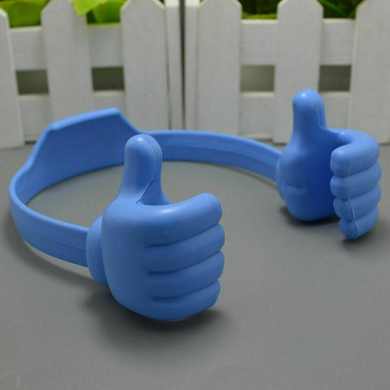Thumbs-up Universal Adjustable Lazy Phone Stand Holder danyounger Blue