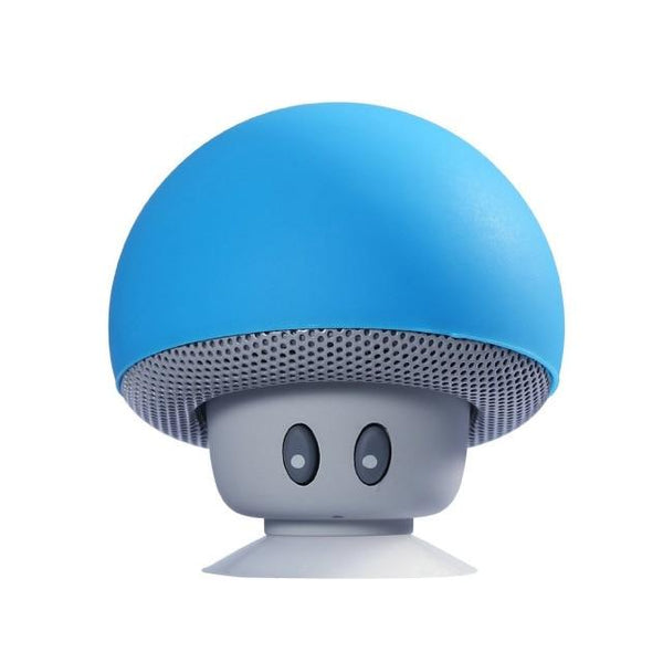 Portable Small Mushroom Head Bluetooth Sound Box Silicon Rubber Desktop Loudspeaker Phone Holders & Stands UY8-Shopping Store Blue