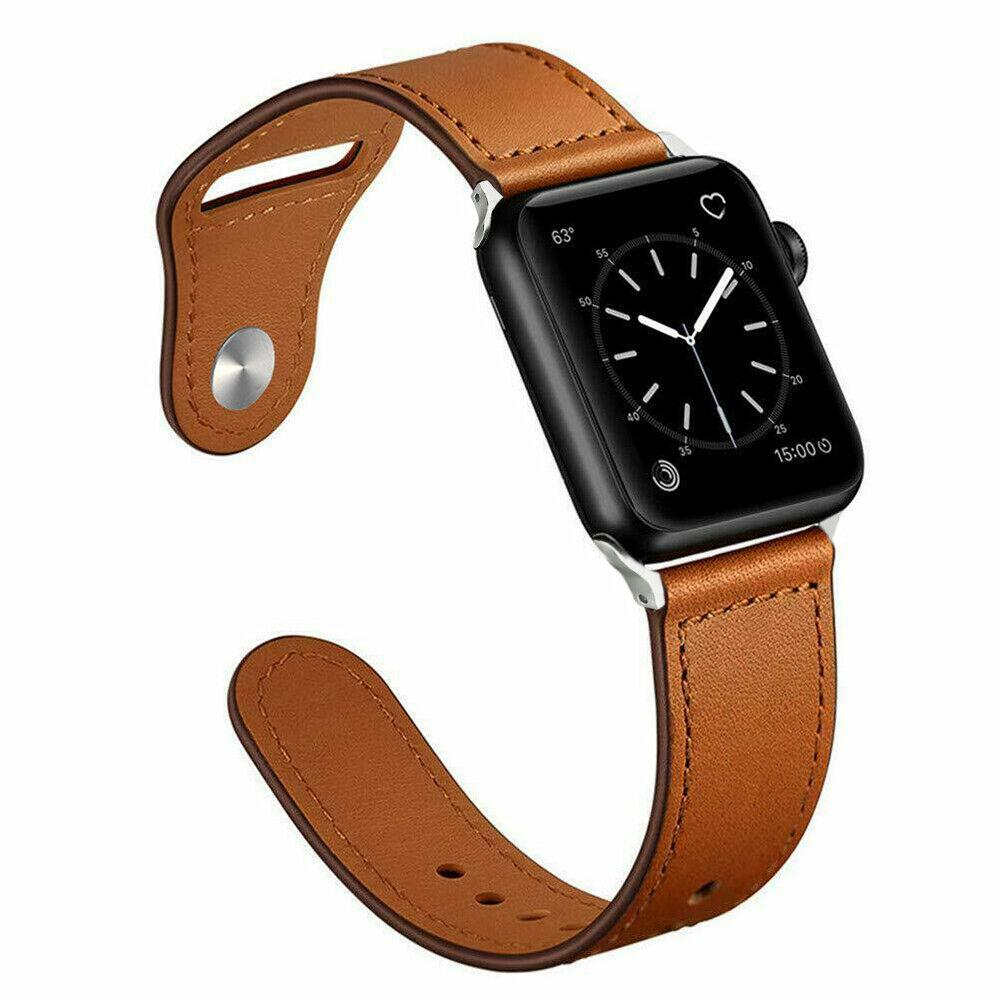 Genuine Leather Band Strap for Apple Watch Series 6 5 4 3 2 1 40/44/38/42mm jchou_fastjchou_fast For Apple Watch 38mm Brown