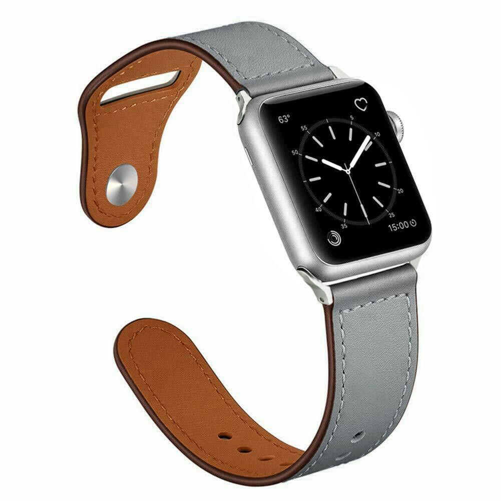 Genuine Leather Band Strap for Apple Watch Series 6 5 4 3 2 1 40/44/38/42mm jchou_fastjchou_fast For Apple Watch 38mm Gray