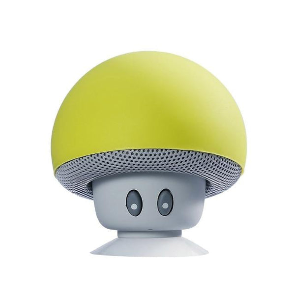 Portable Small Mushroom Head Bluetooth Sound Box Silicon Rubber Desktop Loudspeaker Phone Holders & Stands UY8-Shopping Store Lemon yellow