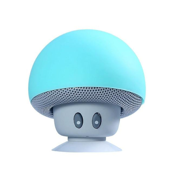 Portable Small Mushroom Head Bluetooth Sound Box Silicon Rubber Desktop Loudspeaker Phone Holders & Stands UY8-Shopping Store Light blue