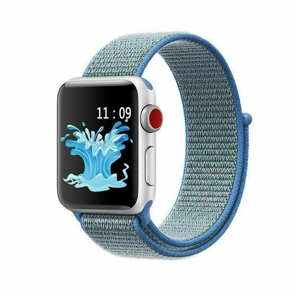 Genuine Leather Band Strap for Apple Watch Series 6 5 4 3 2 1 40/44/38/42mm jchou_fastjchou_fast For Apple Watch 38mm Nylon Blue