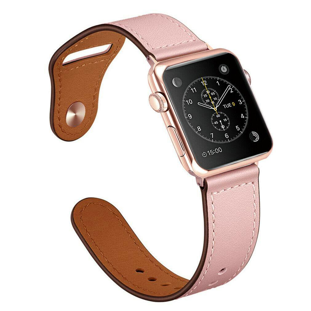 Genuine Leather Band Strap for Apple Watch Series 6 5 4 3 2 1 40/44/38/42mm jchou_fastjchou_fast For Apple Watch 38mm Pink