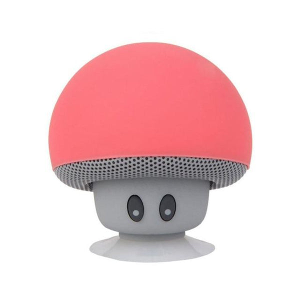 Portable Small Mushroom Head Bluetooth Sound Box Silicon Rubber Desktop Loudspeaker Phone Holders & Stands UY8-Shopping Store Watermelon red