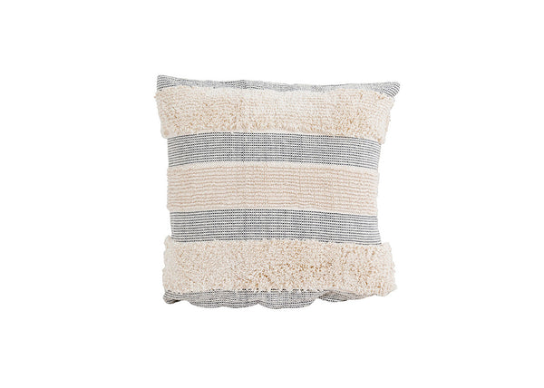 Black & Cream Textured Pillow