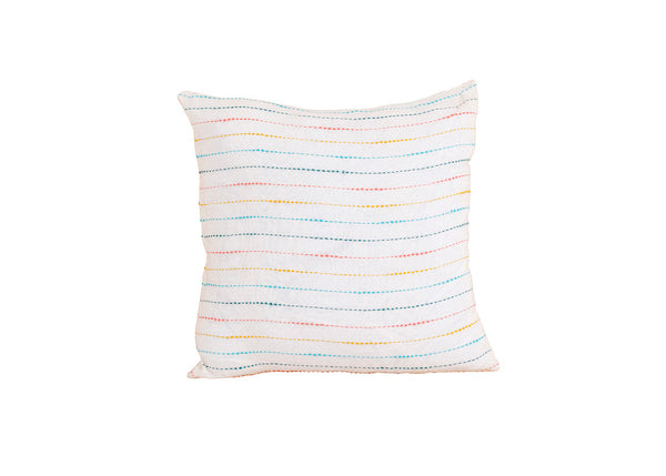 Rainbow Striped Pillow