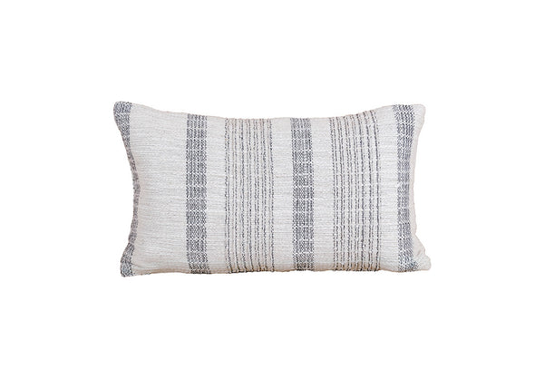 Grey & White Striped Pillow