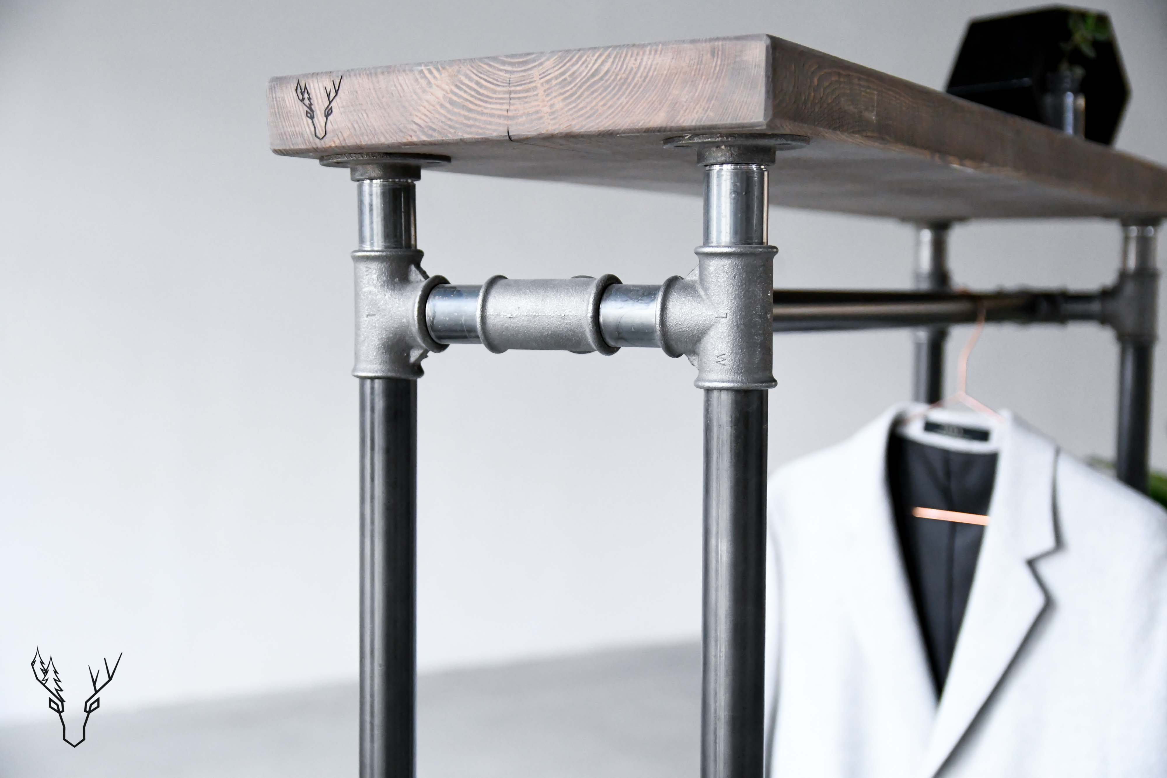 "Clothing Rail Pipes 1"" № One - Wild Wood Factory"