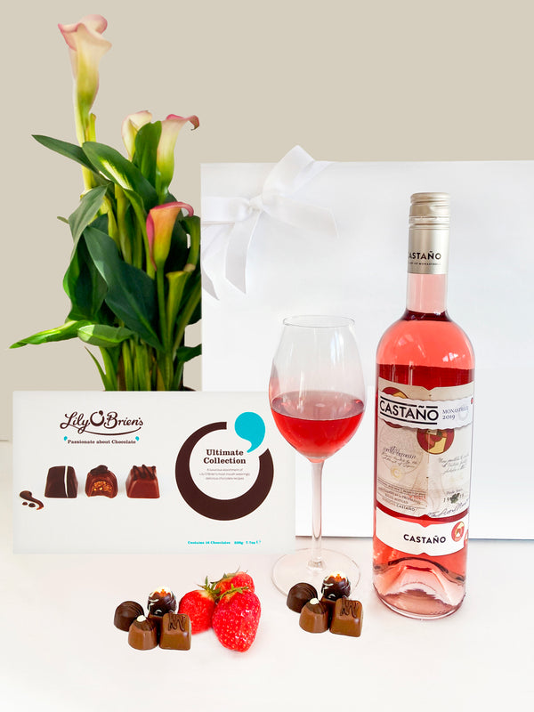 Rosé Wine and Chocolates Gift Hamper