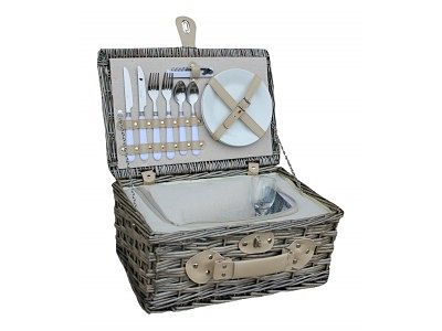 Picnic Basket with Champagne & Chocolates