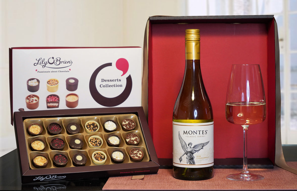 Montes Chardonnay & Luxury Chocolates Gift Set