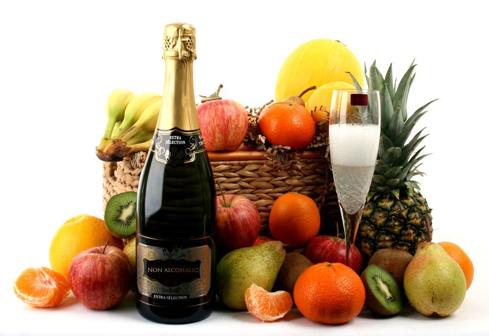 Non-Alcoholic Prosecco & Fresh Fruit Basket