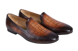 Ecru Croco Slip On