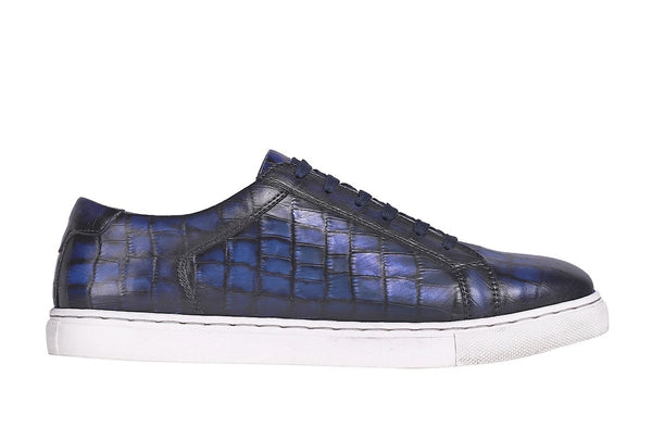 Indigo Croco Low Top