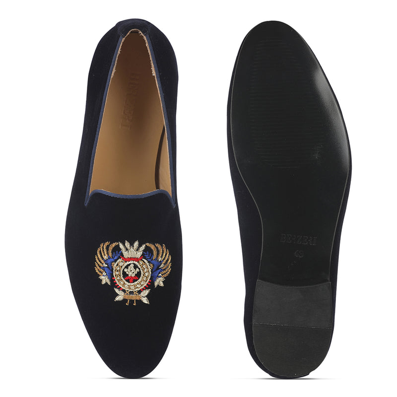 Navy Peira Veloure