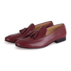 Burgundy Nappa Loafer