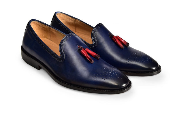 Blue Tassel Fertel Loafer