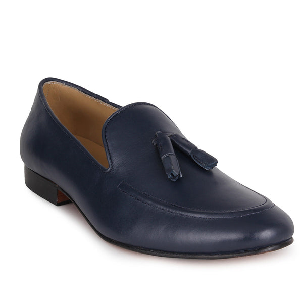 Navy Nappa Loafer