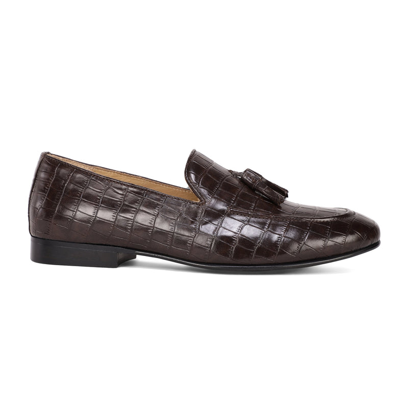 Cocoa Croco Nappa Loafers