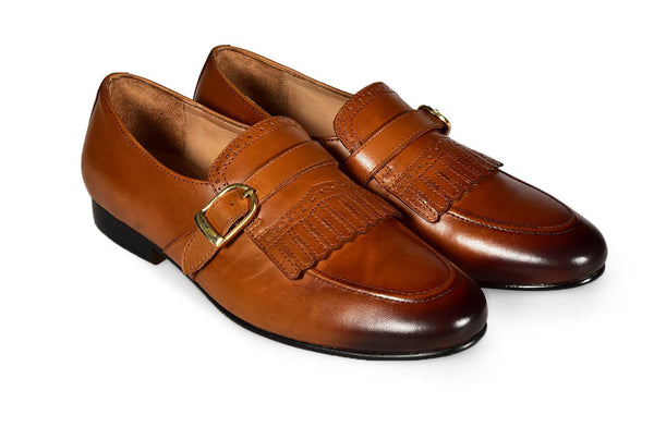 ECRU FRINGED LOAFER
