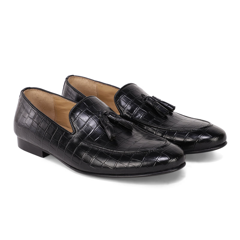 Midnight Croco Nappa Loafer
