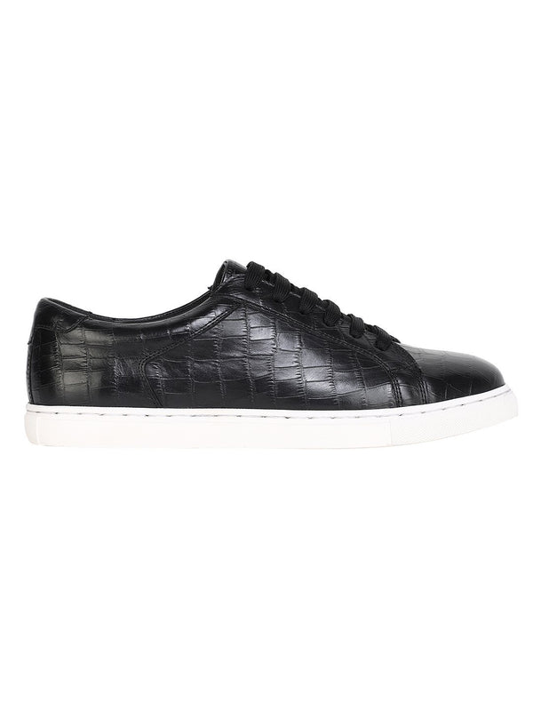 NOIR CROCO LOW TOP