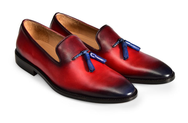 Red Fertel Tassel Loafer